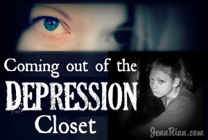 Coming out of the depression closet…